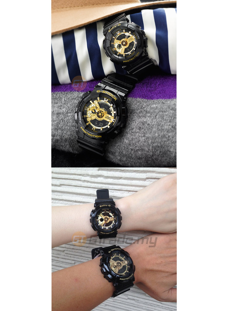 CASIO G-SHOCK BABY-G GA-110GB-1A & (end 10/15/2018 11:11 PM)