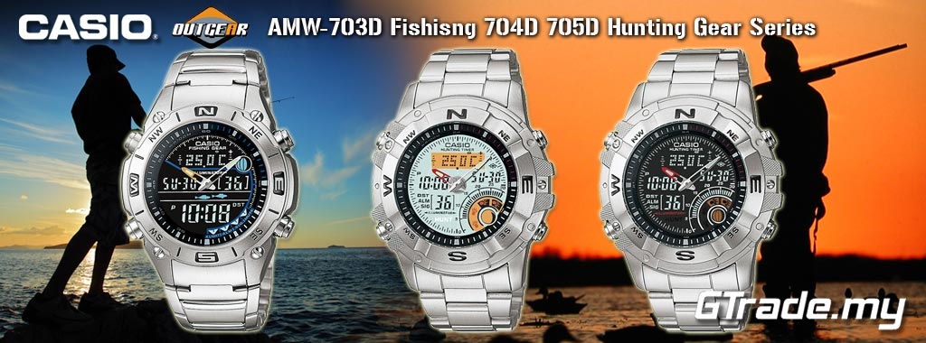Casio Sports Gear Watch with Fishing Mode and Moon Data